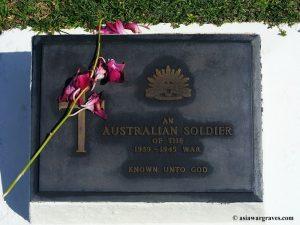 An Unknown Australian Soldier - Labuan War Cemetery, Borneo
