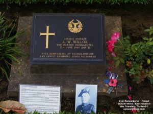 Ever Remembered - Robert William Willox - Kanchanaburi War Cemetery, Thailand