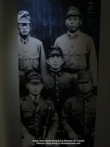 Image of Japanese soldiers seen inside Hong Kong Museum Of Coastal Defence, Hong Kong, China