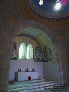 Inside the Memorial Chapel, Jerusalem War Cemetery, Israel