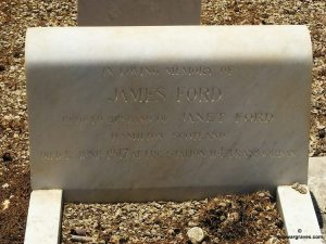James Ford, Iraq Petroleum Company, Khayat Beach Cemetery, Haifa, Israel