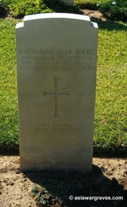 Katharine Joan Berry, The Church of Scotland Hut And Canteen Service, CWGC Ramlah War Cemetery, Israel