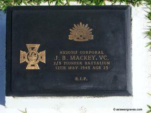 Mackey J.B., Victoria Cross, Labuan War Cemetery, Borneo