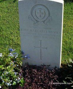 Nurse Ruby Margaret Brooks (VAD), Kranji War Cemetery, Singapore.