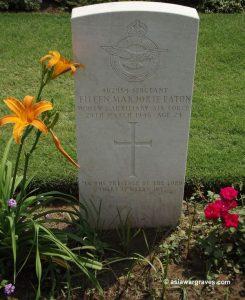 Sgt. Eileen Marjorie Eaton (WAAF), CWGC Delhi War Cemetery, India