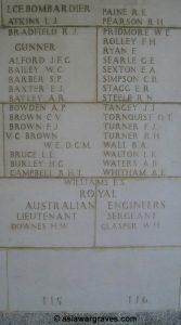 Brown W.E., Victoria Cross, Singapore Memorial - Column 115, Singapore