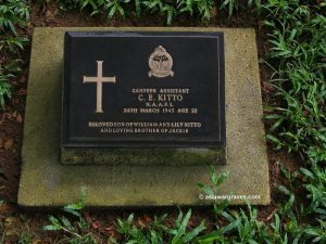 Canteen Assistant CE Kitto, NAAFI, Ambon War Cemetery, Indonesia