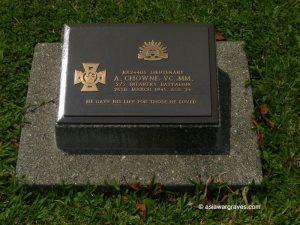 Chrome A., Victoria Cross, Lae War Cemetery, Papua New Guinea