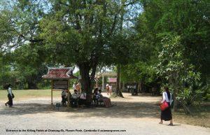 Entrance to the Killing Fields at Choeung Ek, Phnom Penh, Cambodia