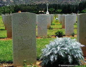 Harvey N., Victoria Cross, Khayat Beach War Cemetery, Israel
