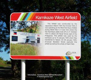 Information, Kamikaze West Airfield Monument © asiawargraves.com
