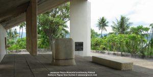 Japanese Peace Memorial overlooking Rabaul Harbour, Papua New Guinea
