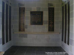 Lae Memorial, Lae War Cemetery, Papua New Guinea
