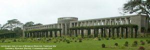 Landscape view at rear of Rangoon Memorial, Taukkyan War Cemetery, Myanmar (Burma)