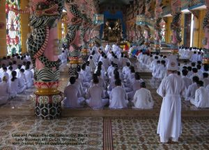 Love and Peace - Cao Dai Temple - (nr. Black Lady Mountain and Cu Chi Tunnels), Tȃy Ninh District, Vietnam