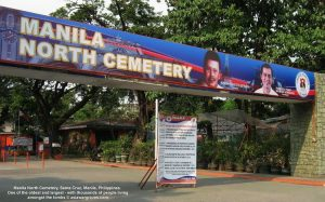Manila North Cemetery, Santa Cruz, Manila, Philippines. One of the oldest and largest - with thousands of people living in the tombs.