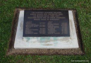 Memorial to 19 Japanese soldiers, CWGC Chittagong War Cemetery, Bangladesh