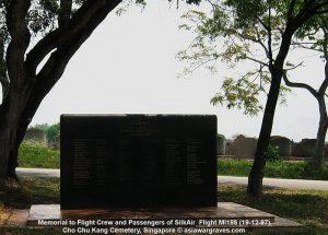 Memorial to Flight Crew and Passengers of SilkAir Flight MI185 (19-12-97) - Cho Chu Kang Cemetery, Singapore