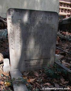 Owen Alfred Rowland Berkeley-Hill, All Saints Cemetery, Ranchi, India