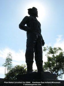 Pilot Statue (unveiled Oct 2004) , Kamikaze East Airfield Monument © asiawargraves.com