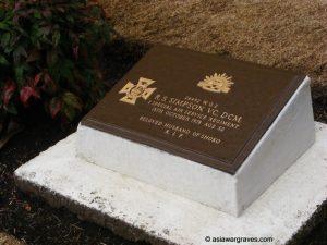 Simpson RS, Victoria Cross, British Commonwealth Forces Cemetery, Yokohama, Japan