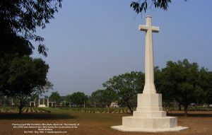 Thanbyuzayat War Cemetery, Mon State, Myanmar. The majority of the c3700 men interred here died during construction of the Death Railway 1942 to 1944
