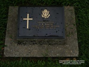 United States Army Air Corps (15th Weather Sqdn) - John Waite - Ambon War Cemetery, Indonesia