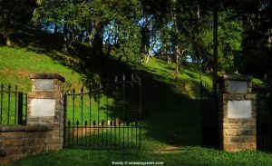 View inside Kandy War Cemetery, Sri Lanka