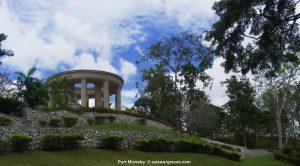 View inside Port Moresby War Cemetery, Papua New Guinea