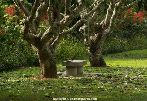 View inside Taukkyan War Cemetery, Myanmar - Burma