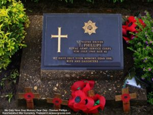 We Only Have Your Memory Dear One - Thomas Phillips - Kanchanaburi War Cemetery, Thailand